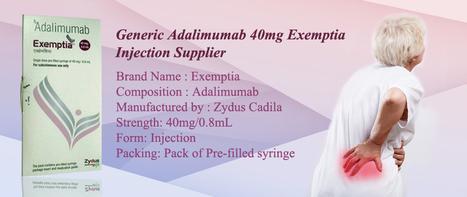 #Adalimumab 40 mg Injection   #Exemptia online price   Indian #Arthritis Medicine Supplier   USA, UK, Canada Online Medicine Pharmacy   Scoop.it
