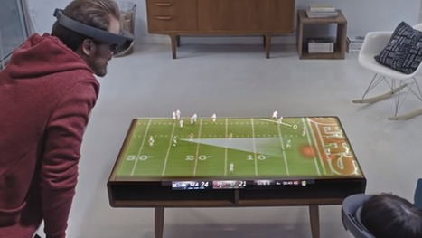 The Future of sports watching: Microsoft's HoloLens #video of a Super Bowl party | Digital Transformation of Businesses | Scoop.it