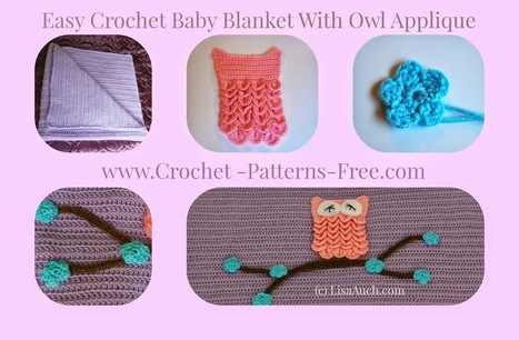 Free Crochet Patterns and Designs by LisaAuch: Free Crochet Pattern for an Easy Baby Blanket With Optional Owl Applique | Crochet Crochet Crochet.... | Scoop.it