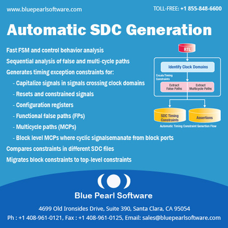 Automatic SDC Generation | Blue Pearl Software Inc | Blue Pearl Software | Scoop.it
