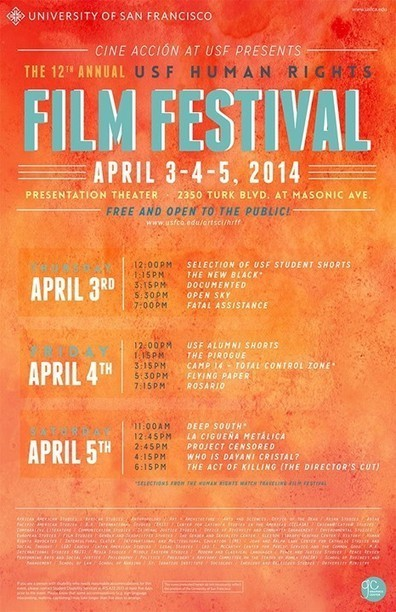 12th Annual Human Rights Film Festival at #USFCA this April | NGOs in Human Rights, Peace and Development | Scoop.it
