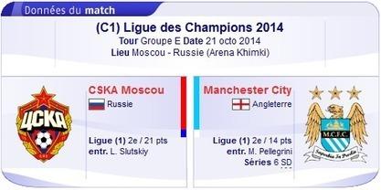 Regarder CSKA Moscou vs Manchester City en direct streaming sur bein sport Le 21-10-2014-bein sport | bein sports arabia | Scoop.it
