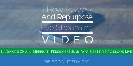 How to Use and Repurpose Live Video Streams | The Twinkie Awards | Scoop.it