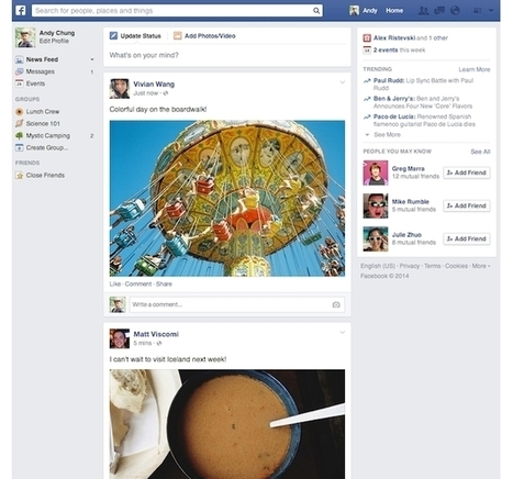 NEWS FEED - A New News Feed For Facebook | Facebook for Business Marketing | Scoop.it
