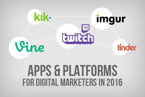 6 Social Apps & Platforms that Digital Marketers Can't Snub in 2016 | internet marketing | Scoop.it