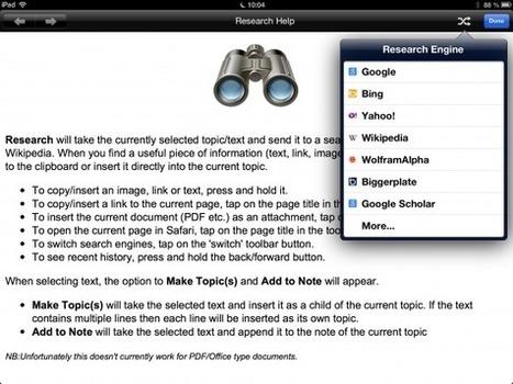 Capturer directement images et texte dans votre carte Ithoughts HD - [MIND MAPPING POUR TOUS] | Medic'All Maps | Scoop.it