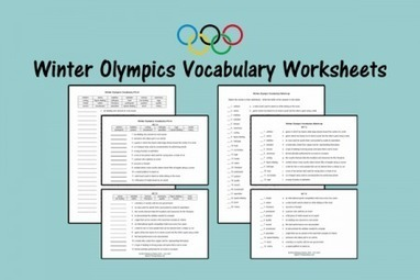 Winter Olympics Vocabulary Worksheets - Speech Therapy Ideas | Speech-Language Pathology | Scoop.it
