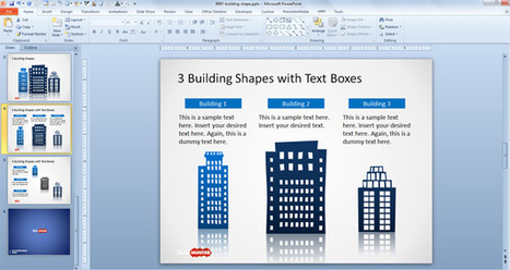 Free Office Building Shapes for PowerPoint - Free PowerPoint Templates - SlideHunter.com | peace | Scoop.it