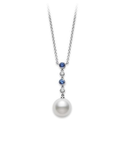 Mikimoto Blue Sapphire and Pearl Pendant | Pearls & Fashion | Scoop.it