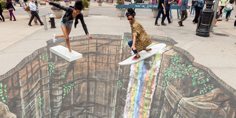 11 Mesmerizing 3D Chalk Art Masterpieces That Will Melt Your Brains - Huffington Post | Google Glass | Scoop.it