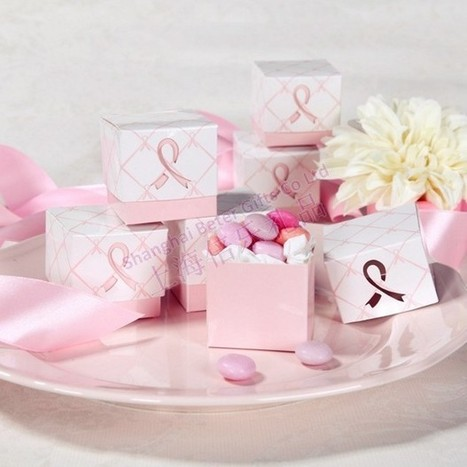 12pcs TH007 Pink Ribbon wedding decoration candy boxes | Wedding Favor Boxes | Scoop.it