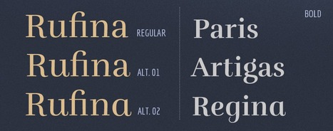 Rufina {Pay What you Want Font} | Type, Typography, Letterforms, Fonts | Scoop.it