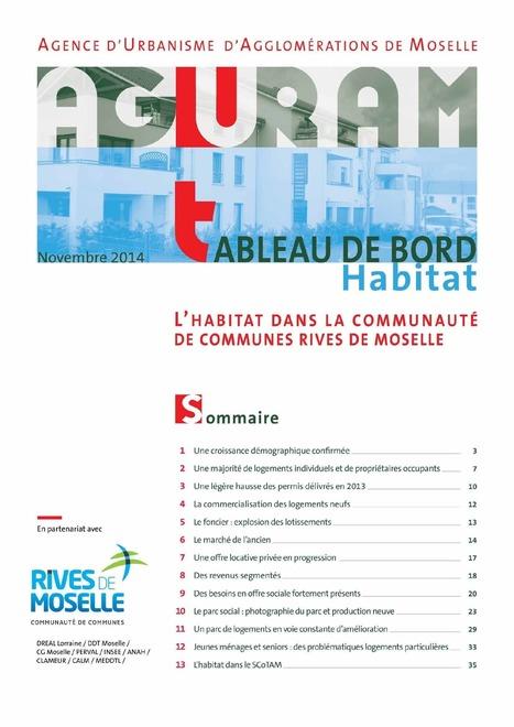 Découvrez le premier tableau bord habitat de la communauté de communes Rives de Moselle   Actualité du centre de documentation de l'AGURAM   Scoop.it