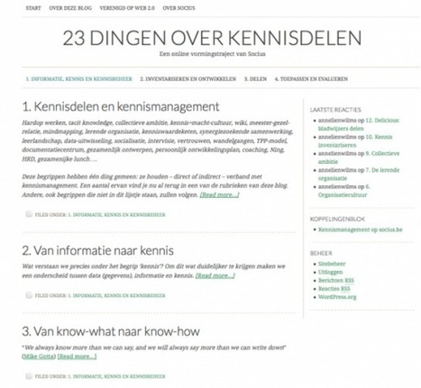 9 tools voor kennismanagement - deel 1 | KnowledgeManagement | Scoop.it