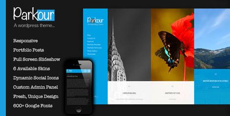 Parkour, Premium WordPress Horizontal Portfolio Theme | WP Download | artmore | Scoop.it