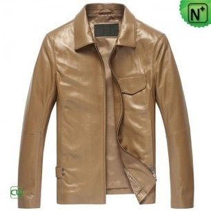 Mens Tan Leather Shirt Jacket CW850118 | Leather Blazer Jacket | Scoop.it
