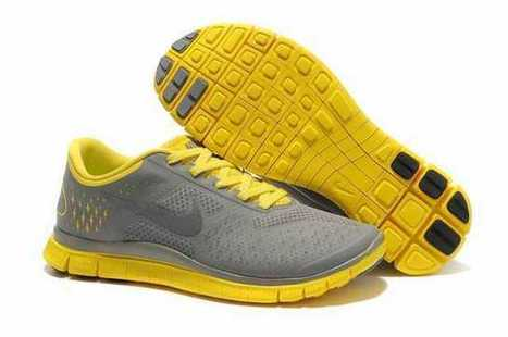 Nike Free Run 4.0 V2 Shoes Charcoal Yellow uk clearance huge surprise | mode | Scoop.it