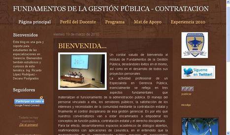 FUNDAMENTOS DE LA GESTIÓN PÚBLICA - CONTRATACION(Blog) - POSTGRADO UDES | BLOGOSFERA DE EDUCACIÓN SUPERIOR Y POSTGRADOS | Scoop.it