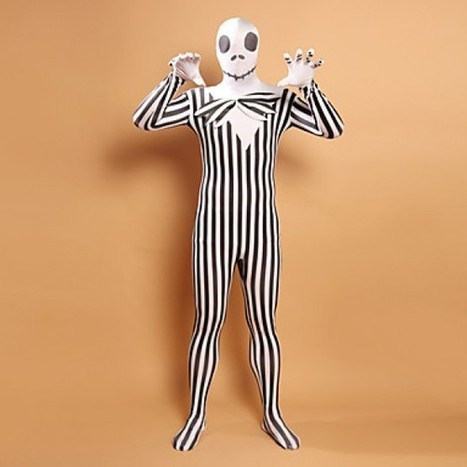 Black and White Costume|Stripes Zombie Head Lycra Zentai Costume|Black and White Stripes Zombie Head Lycra Zentai Cosplay Costume | Zentai Suits Cosplay | Scoop.it