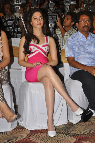 Cute Tamanna Bhatia in Tight Body Hugging Short Skirt at a Promotion Event | Fashion Divas | Scoop.it