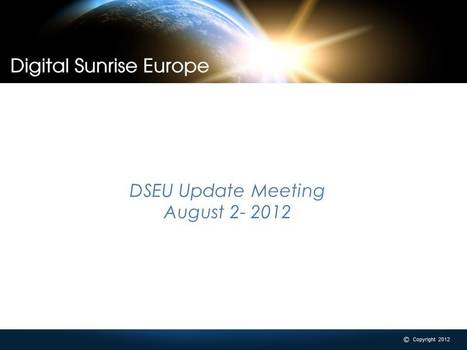 Webinar Recap: DSEU Management Update meeting 08/02 | Digital Sunrise Europe | Scoop.it