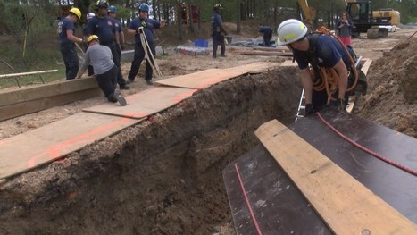 "Columbia firefighters take part in ""trench rescue"" training 