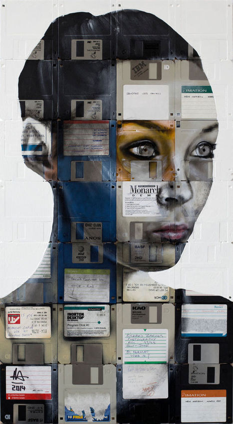 Timeless Portraits Created On Obsolete Floppy Disks And Film | Strange days indeed... | Scoop.it
