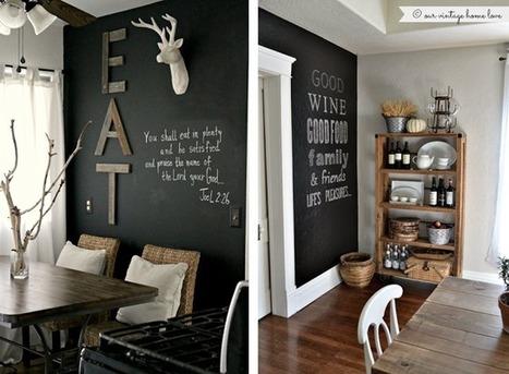 Joli place: 10 idées pour un mur tableau noir   palette   Scoop.it
