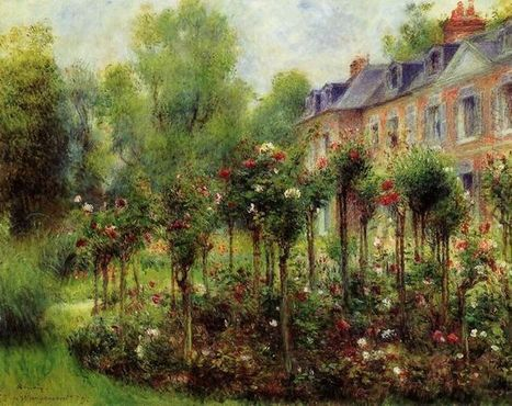 Oil painting reproduction: Pierre Auguste Renoir The Rose Garden At Wargemont 1879 - Artisoo.com | Creative Oil on Canvas | Scoop.it