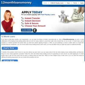 12 Month Payday loans UK Online No Credit Check @ 12monthloansmoney.co.uk   12MonthLoansMoney.co.UK – 12 Month Loans   Scoop.it