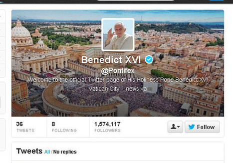The pope's 5 most popular tweets | MarketWatch | Personal Branding and Professional networks | Scoop.it