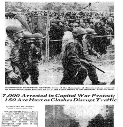 Recovered History: 7,000 May Day Protesters Herded Into D.C. Stadium Prison In 1971 | The Smirking Chimp | May Day 2012 | Scoop.it