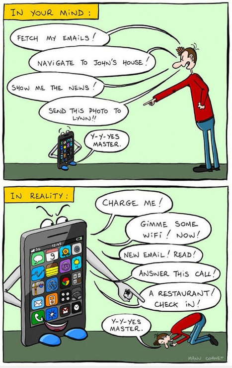 These Powerful Illustrations Show How Smartphones Have Taken Over Our Lives | Mediawijsheid in het VO | Scoop.it