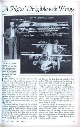 A New Dirigible with Wings - Modern Mechanix (Jul, 1929) | Sustainable Air Transportation Design | Scoop.it