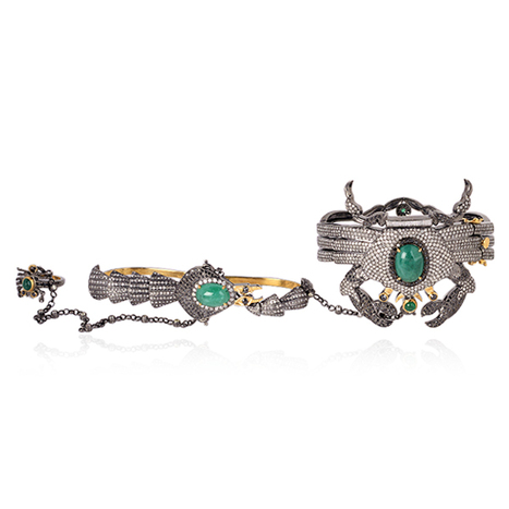 Diamond Scorpion 18k Gold Slave Bracelet | Diamond Jewelry | GemcoDesigns | Pave Diamond Palm Bracelets | Diamond Jewelry | GemcoDesigns | Scoop.it