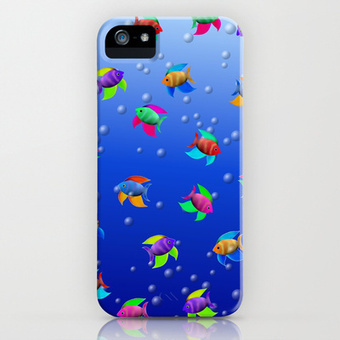 Bright Tropical Fish iPhone & iPod Case by FlaminCat Designs | New From Society6 | Scoop.it