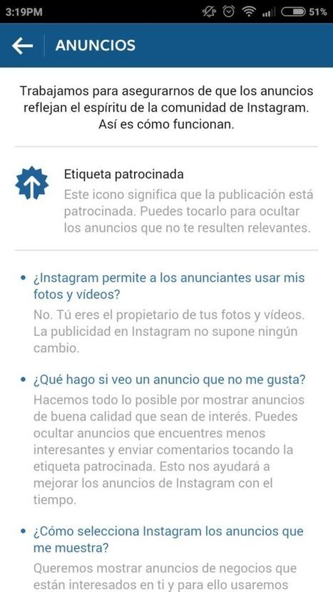 Instagram ya tiene nueva web y trae publicidad a España | Creatividad y Comunicación 2.0 | Scoop.it