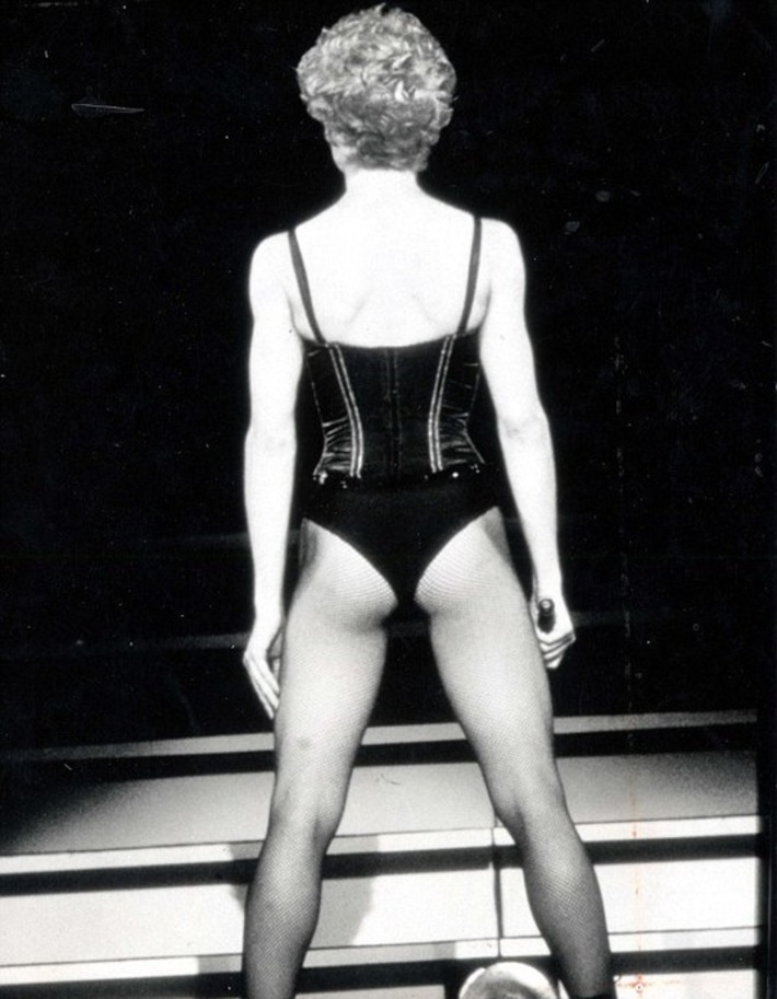 Oh, Madge! The bottom line is no woman over 50 should really be wearing fishnets | Lingerie Love | Scoop.it