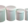 Plastic White Ointment Jar