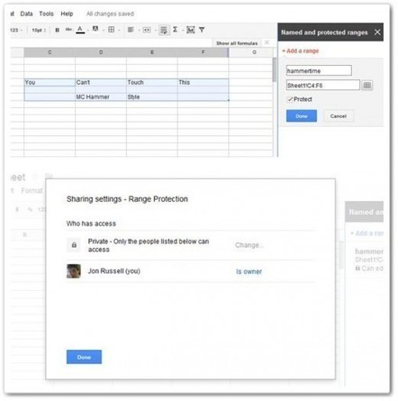 Google updates Spreadsheets with data locking, enhanced search and more | Google | Scoop.it