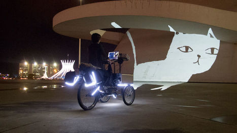 We Create Animated Street Art By Riding Tricycles With Projectors | Emergent Digital Practices | Scoop.it
