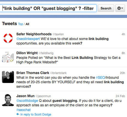 Building Links with Twitter: Collection of Best-Working Tips   Search Engine People   Toronto   Digital Marketer Watch   Scoop.it