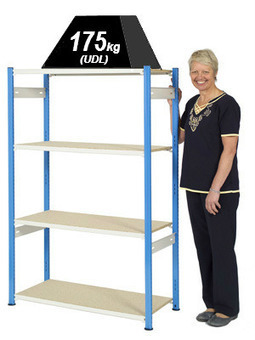 Trimline Storage Shelving 1525mm high - 4 Chipboard Shelves | Storage Equipment | Scoop.it