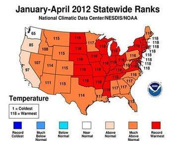2012 is USA's warmest year on record, so far | Climate & Clean Air Watch | Scoop.it