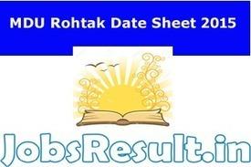 MDU Rohtak Date Sheet 2015 MDU Time Table BA MA B.Com B.Sc | JobsResult.in | Scoop.it