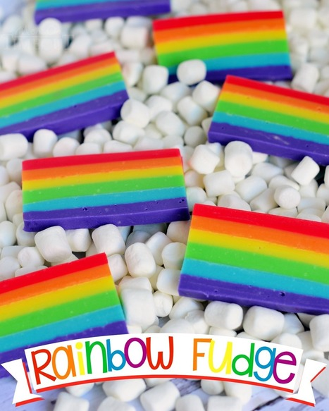 Easy Rainbow Fudge - Mom On Timeout | Passion for Cooking | Scoop.it