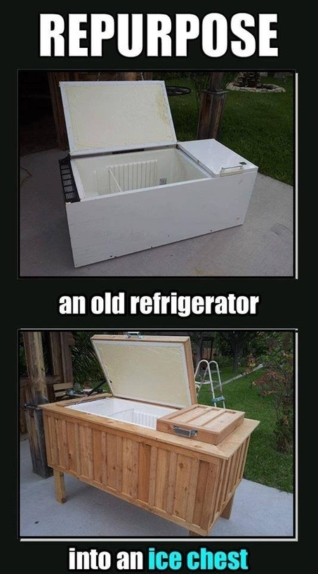 Repurpose an old refrigerator into an ice chest | Backyard Gardening | Scoop.it