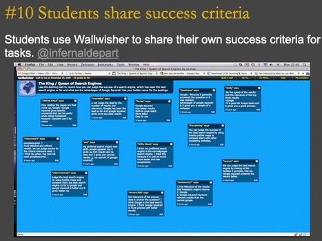 32 Interesting Ways to Use Wallwisher in the Classroom | Into the Driver's Seat | Scoop.it