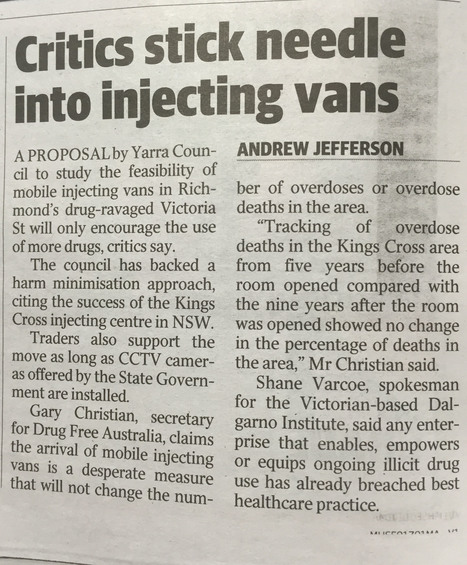 Critics stick needle into injecting vans (Vic) | Alcohol & other drug issues in the media | Scoop.it