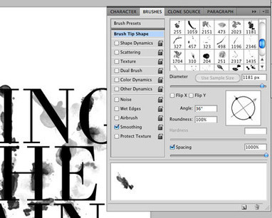Photoshop Tutorial - Wet Ink Typography | Crazy 4 Photoshop | Scoop.it